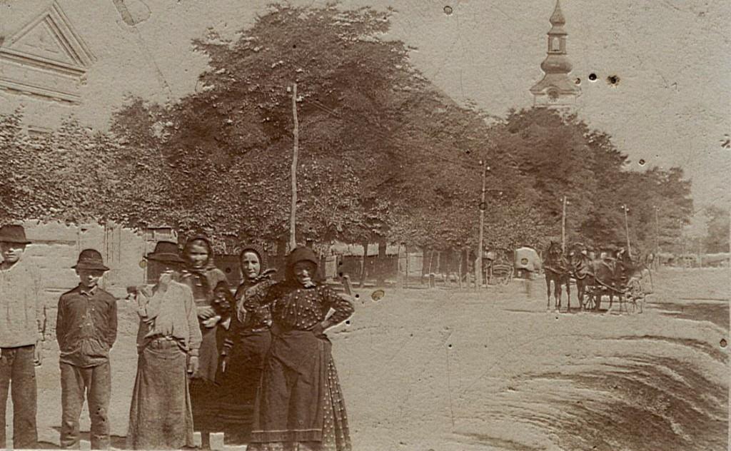 Centar, ispred parohijsko doma evangeličke crkve, Stara Pazova, 1909.godine