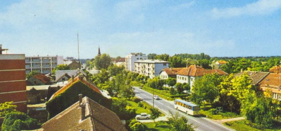 Pogleda sa vatrogasnog tornja , Stara Pazova, 1978.godine
