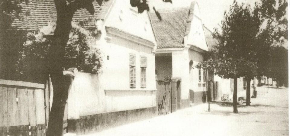 Na staroj fotografiji  iz Novih Banovaca vidi se kuća porodice  Adama Schleichera, prva polovina 20. veka. Sa sajta www.neu-banovci.de