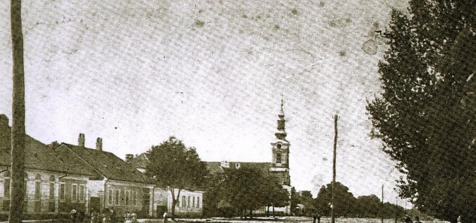 Na staroj fotografiji iz 1880.godine nalazi se Svetosavska ulica (Selenski šor) sa kućama i ljudima.
