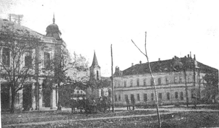 Na fotografiji iz 1917.godine vidi se centar Stare Pazove.