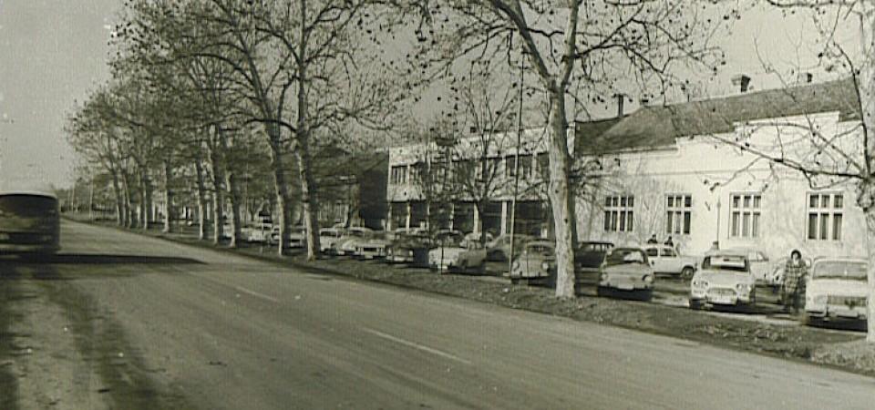Svetosavska ulica(zgrada stare opštine), Stara Pazova, druga polovina XX veka