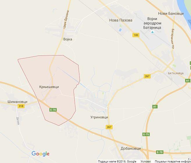 Google mapa: Krnješevci