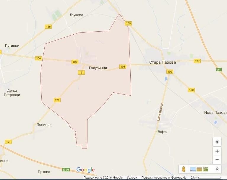 Google mapa: Golubinci
