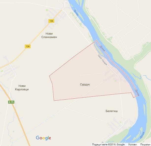 Google mapa: Surduk