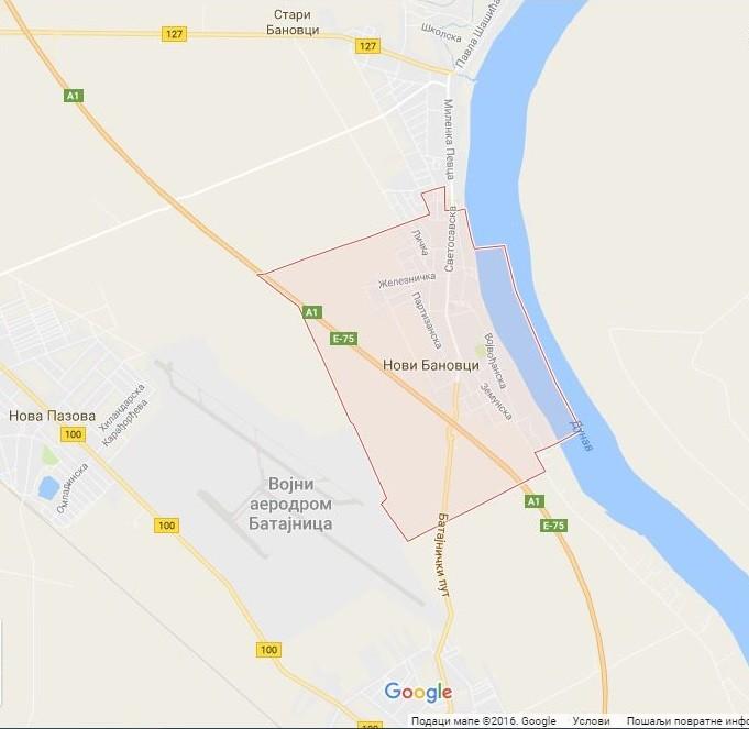 Google mapa: Novi Banovci