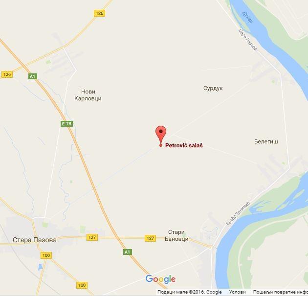 Google mapa: Petrović salaš
