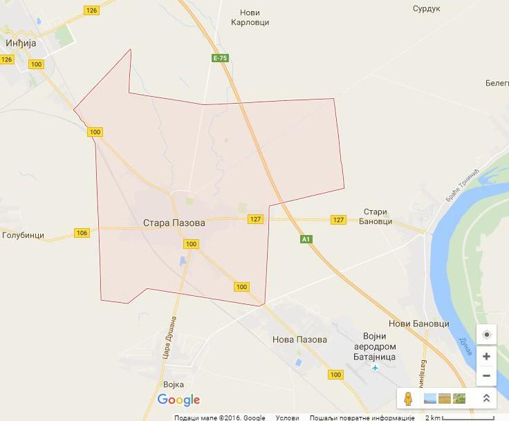 Google mapa: Stara Pazova