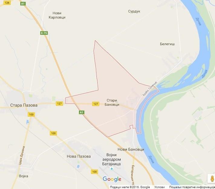 Google mapa: Stari Banovci