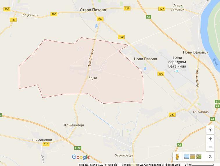 Google mapa: Vojka