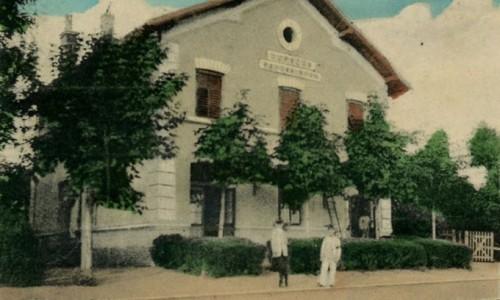 Nova Pazova (Neu Pazua), Železnička stanica (Bahnstation), prva polovina 20.veka