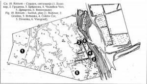 Sl.br. 9 – Pozicija Gradine kod Surduka, lok br. 197 ( Rittium ) sa bližom okolinom ( prema Petroviću 1995: 22, sl. 10)