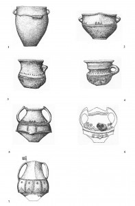 Sl.br. 5: Belegiš, Stojića gumno: 1- 4 – grbo 78 (kat.81-84); 5 – grob 92 ( kat.99); 6 –grob 100 ( kat. 113); 7 – grob 154 ( kat. 164) (Vranić 2002)