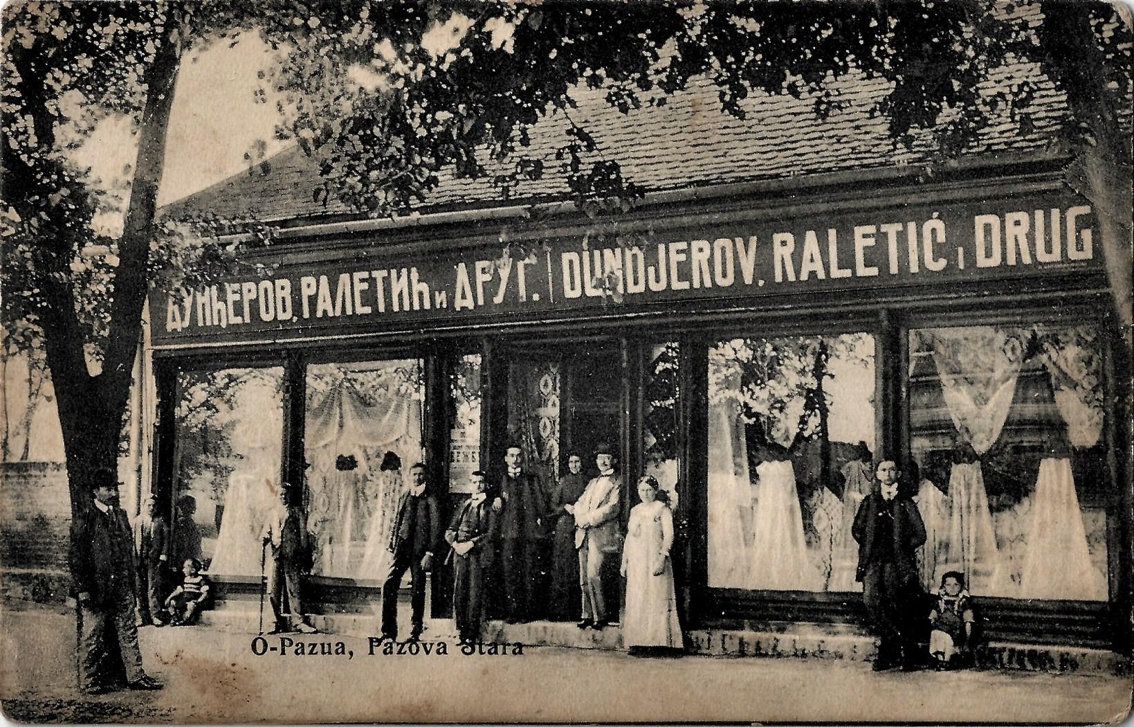 Dunđerov, Raletić i Drug., prva polovina 20. veka, Stara Pazova
