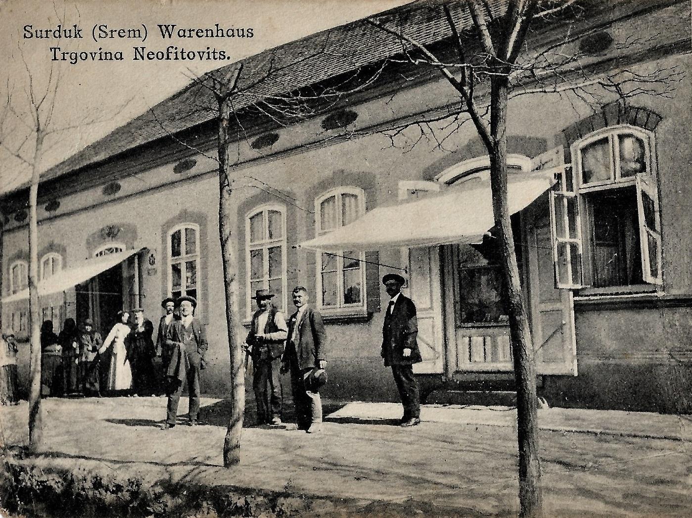 Trgovina-Neofitović, početak 20. veka, Surduk