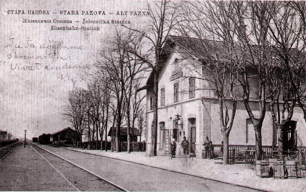 Železnička stanica, Stara Pazova, prva polovina 20.veka