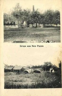 Na staroj razglednici vidi se mesto  Nova Pazova  iz prve polovine 20.veka.