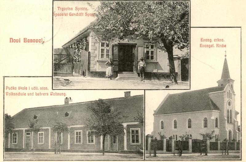 Razglednica, Novi Banovci, prva polovina XX veka