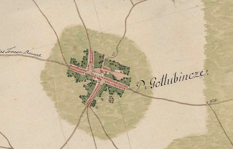 Slika br.3: Mapa Golubinaca (1763-1787), Mađarski arhiv