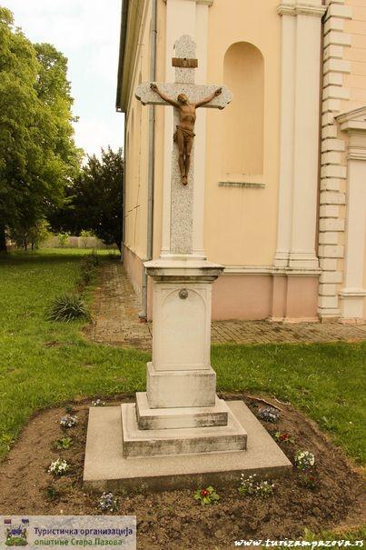 Krst u porti rimokatoličke crkve Svetog Jurja (1885)