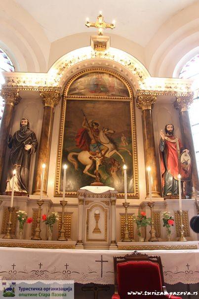 Oltar u rimokatoličkoj crkvi Svetog Jurja (1885)