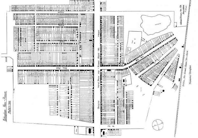 Slika br. 1: Plan Nove Pazove iz doba Švaba