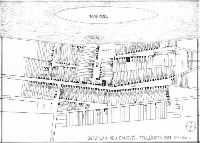 Slika br. 3: Plan naseljavanja Novih Banovaca, prva polovina XX veka