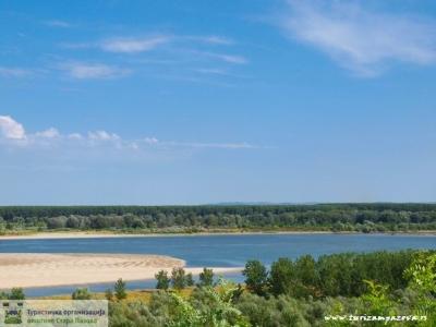Pogled na peščane plaže