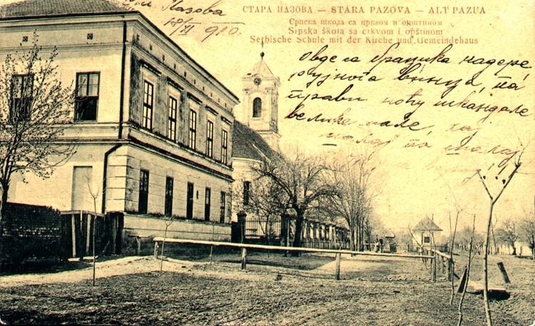 Srpska škola i crkva, Stara Pazova, prva polovina 20. veka