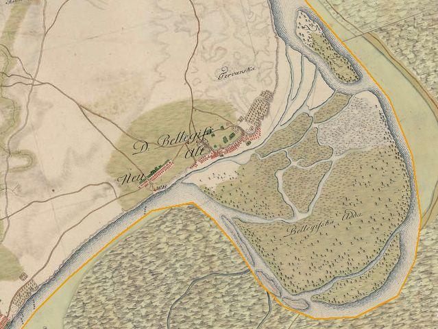 Slika br.1: Mapa Belegiša (1763-1787), Mađarski arhiv