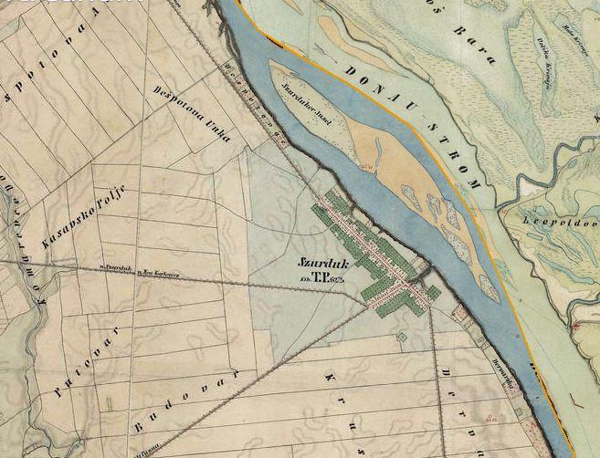 Slika br.2: Mapa Surduka (1806-1869), Mađarski arhiv