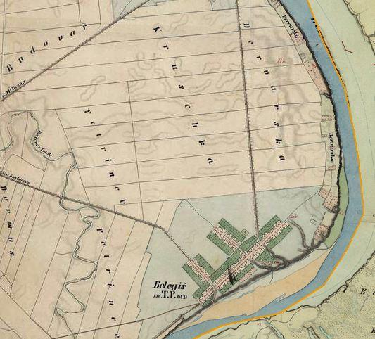 Slika br.2: Mapa Belegiša (1806-1869), Mađarski arhiv