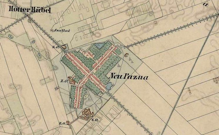 Slika br. 2: Mapa Nove Pazove (1806-1869), Mađarski arhiv