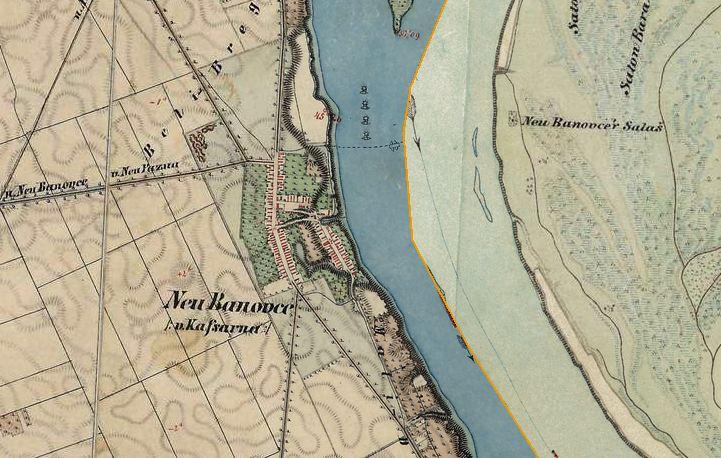 Slika br.2: Mapa Novi Banovci (1806- 1869), Mađarski arhiv