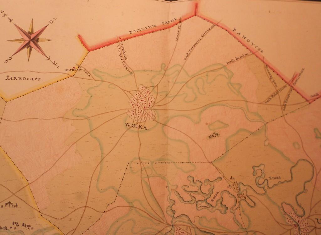 Slika br. 1: Mapa Vojke (oko 1750.god), Hrvatski arhiv