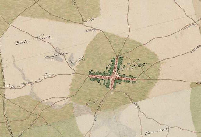 Slika br.4: Mapa Vojke (1763-1787), Mađarski arhiv