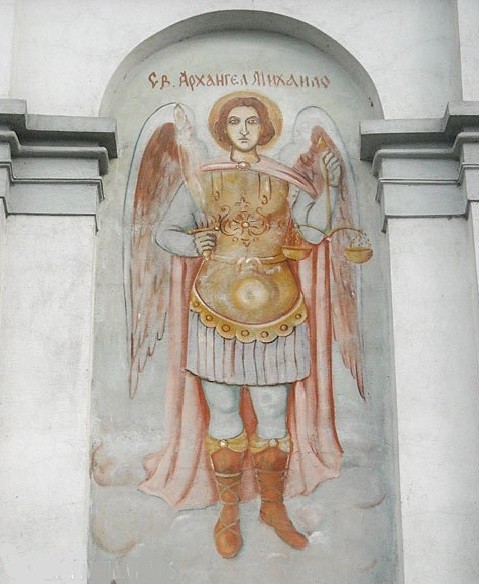 Freska Arhangela Mihaila (južna niša)