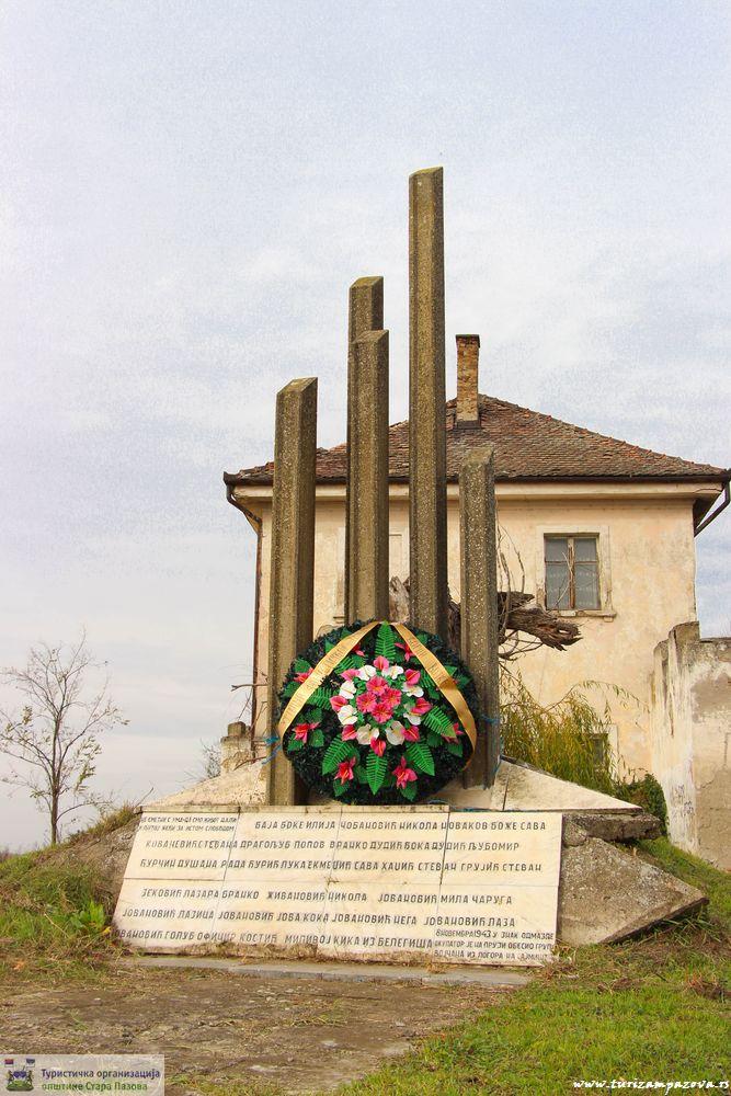 Spomenik na staroj železničkoj stanici Vojka