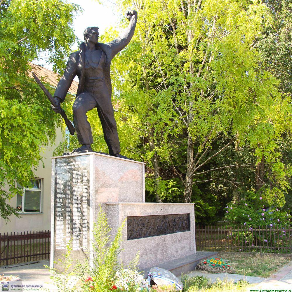 Spomenik borcima i žrtvama Drugog svetskog rata u centru Belegiša