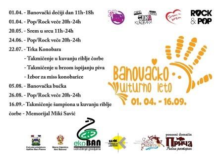 Banovačko kulturno leto od 01.04.-16.09.2017.- Novi Banovci