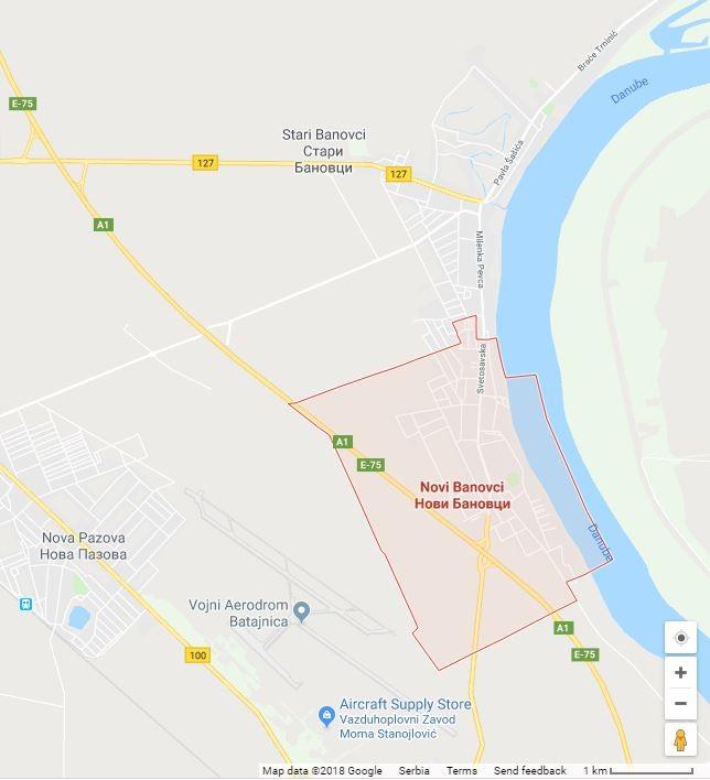 Map-Novi Banovci