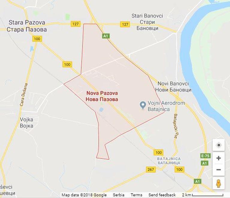 Karte Nova Pazova
