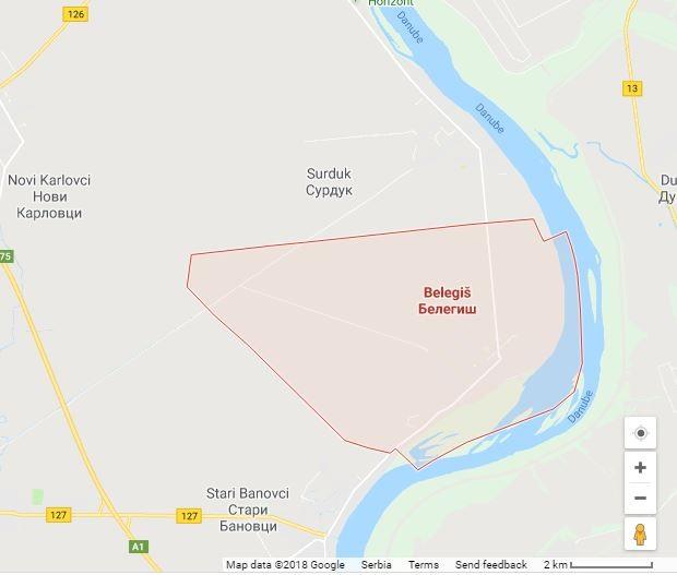 Karte Belegiš