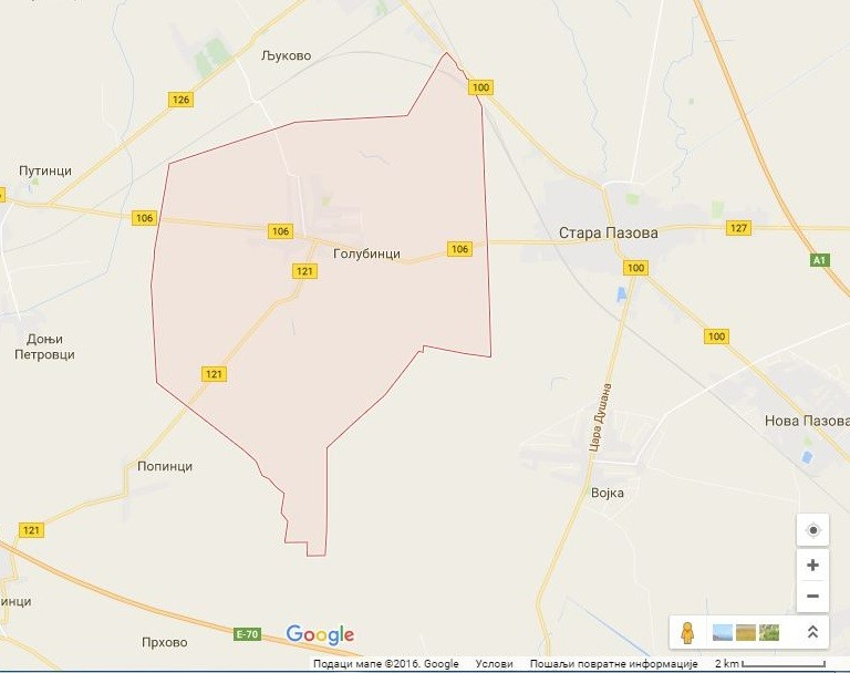 Karte Golubinci